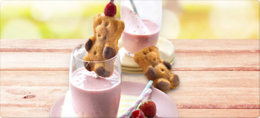 Smoothie fraise framboise aux biscuits LULU L'Ourson®